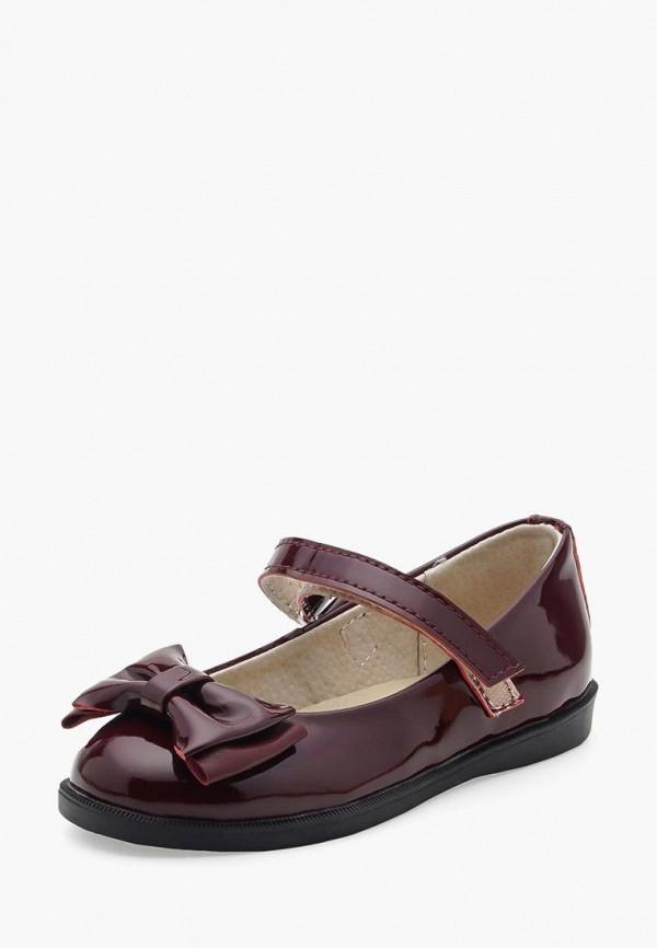 туфли tops для девочки, бордовые