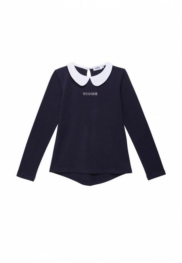 блузка cookie для девочки, синяя