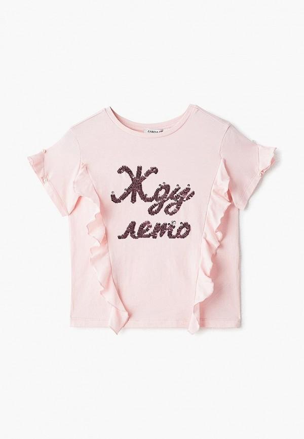 футболка с коротким рукавом zarina для девочки, розовая