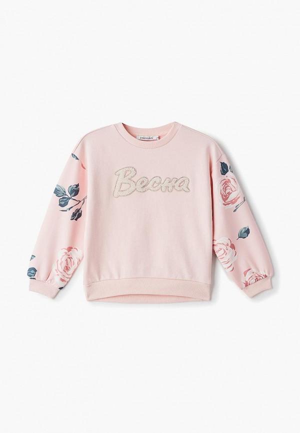свитшот zarina для девочки, розовый