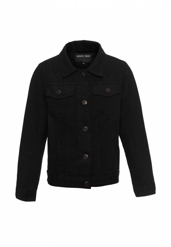 джинсовые куртка moon river для девочки, черная
