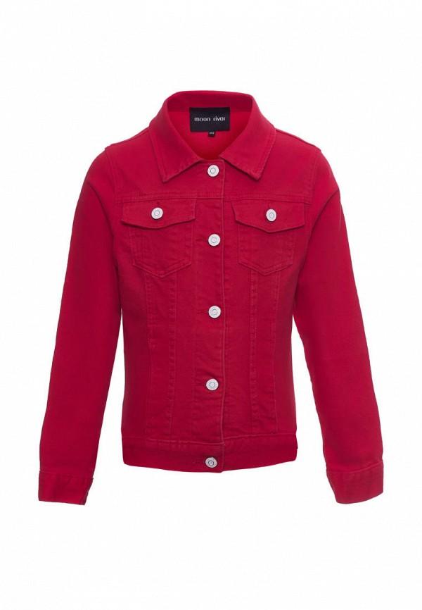 джинсовые куртка moon river для девочки, красная