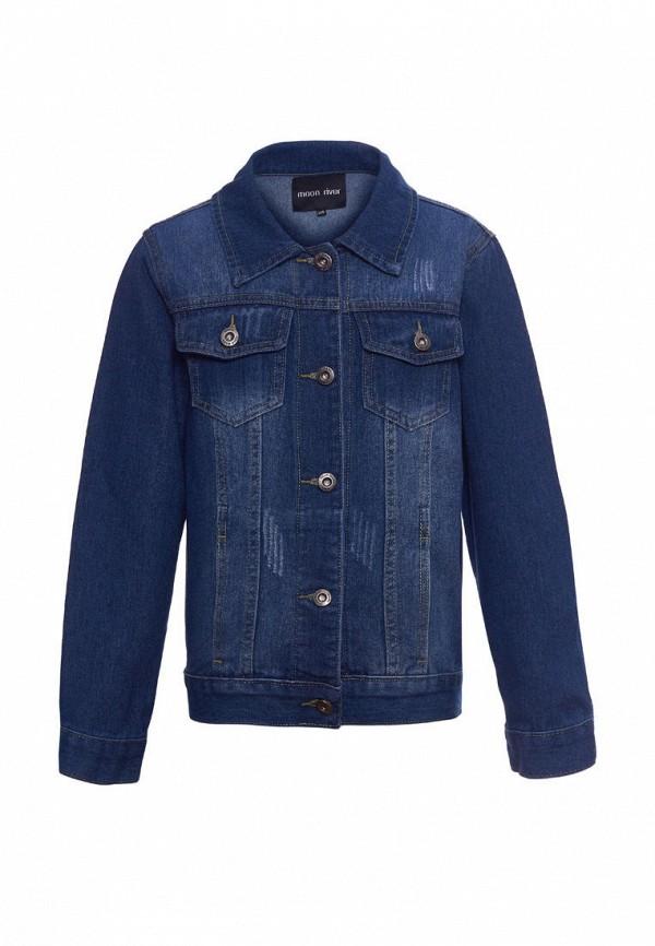 джинсовые куртка moon river для девочки, синяя