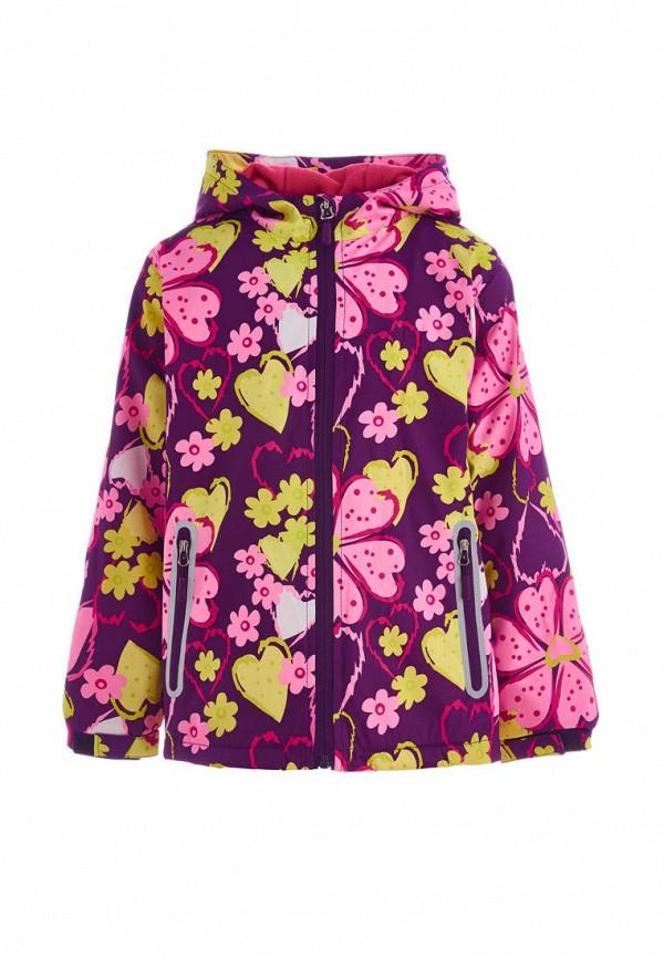куртка moon river для девочки, фиолетовая