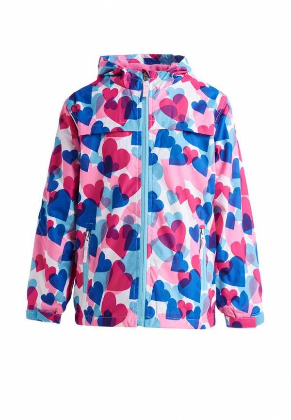 куртка moon river для девочки, разноцветная