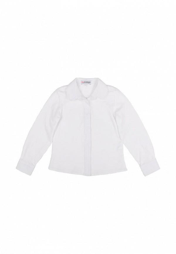 блузка incomer для девочки, белая