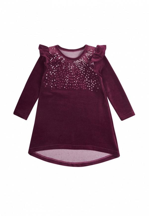 платье фламинго текстиль для девочки, фиолетовое