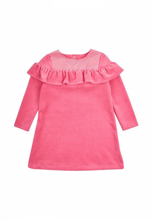 платье фламинго текстиль для девочки, розовое
