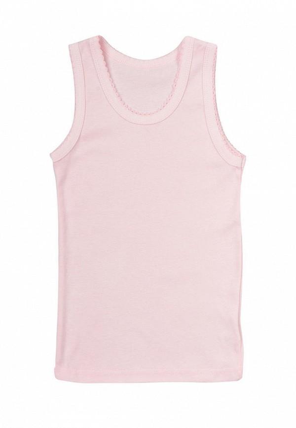 майка фламинго текстиль для девочки, розовая