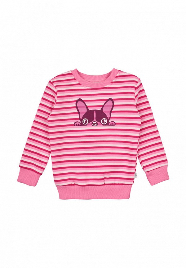 свитшот фламинго текстиль для девочки, розовый