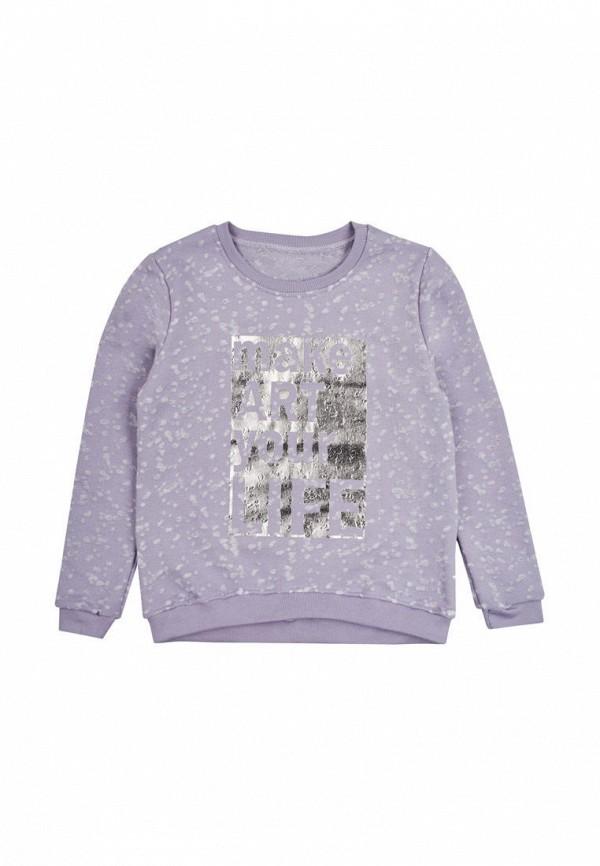 свитшот фламинго текстиль для девочки, фиолетовый