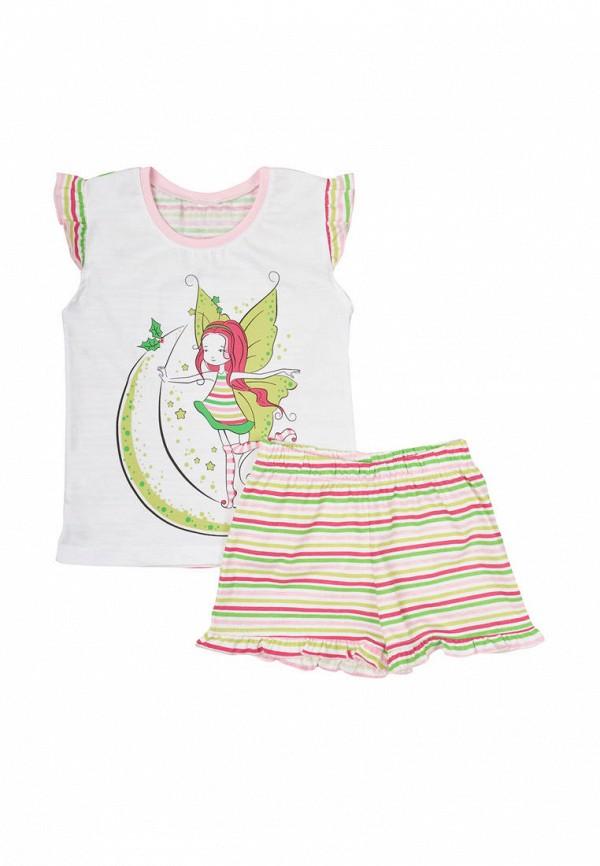 пижама фламинго текстиль для девочки, разноцветная