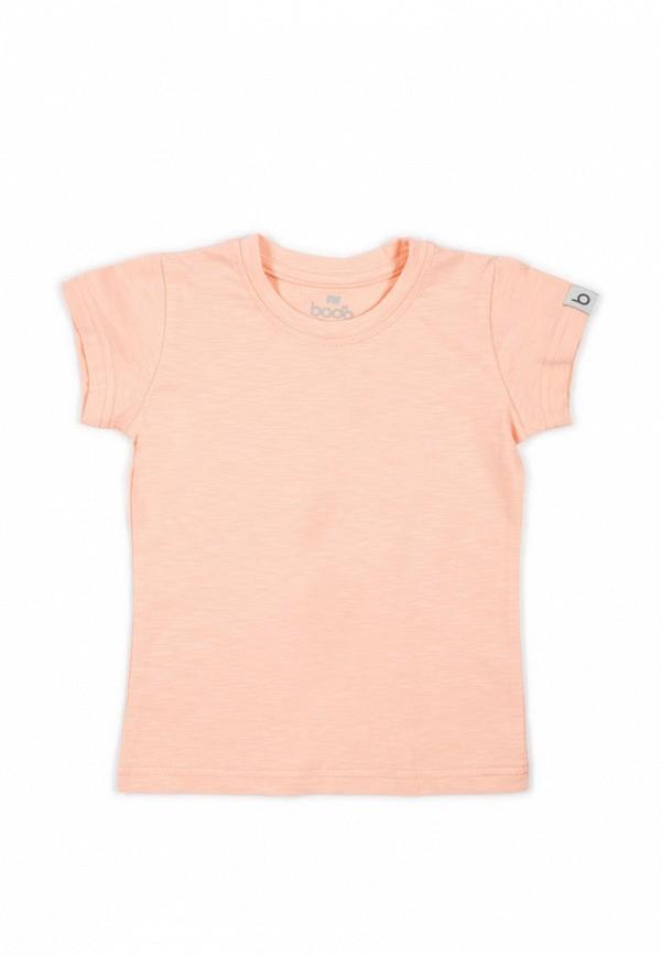 футболка с коротким рукавом bodo для девочки, розовая