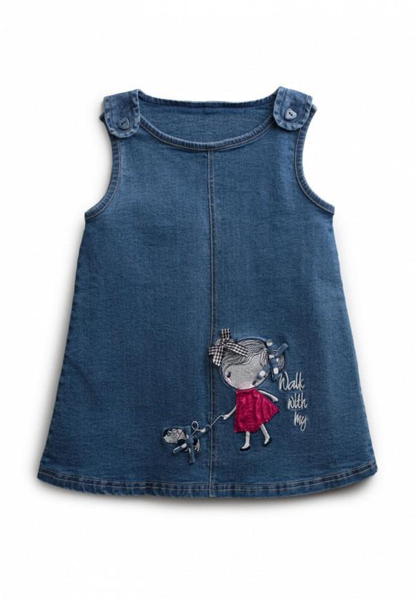 джинсовые платье playtoday для девочки, синее