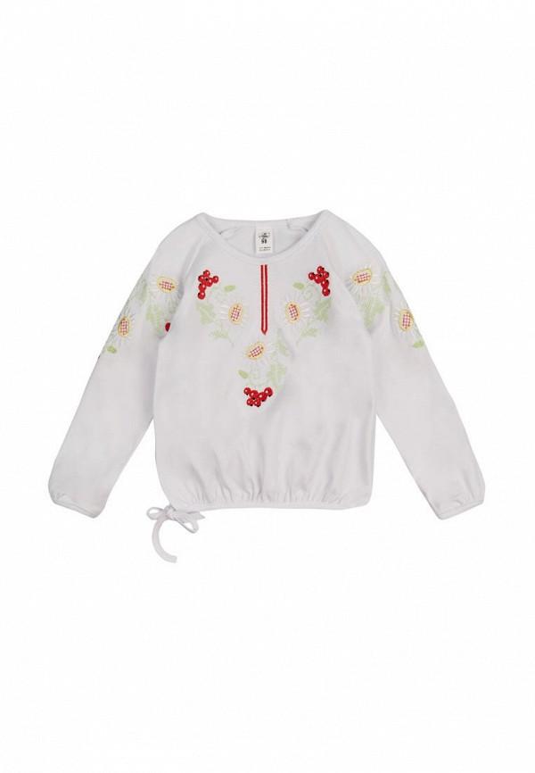 блузка фламинго текстиль для девочки, белая
