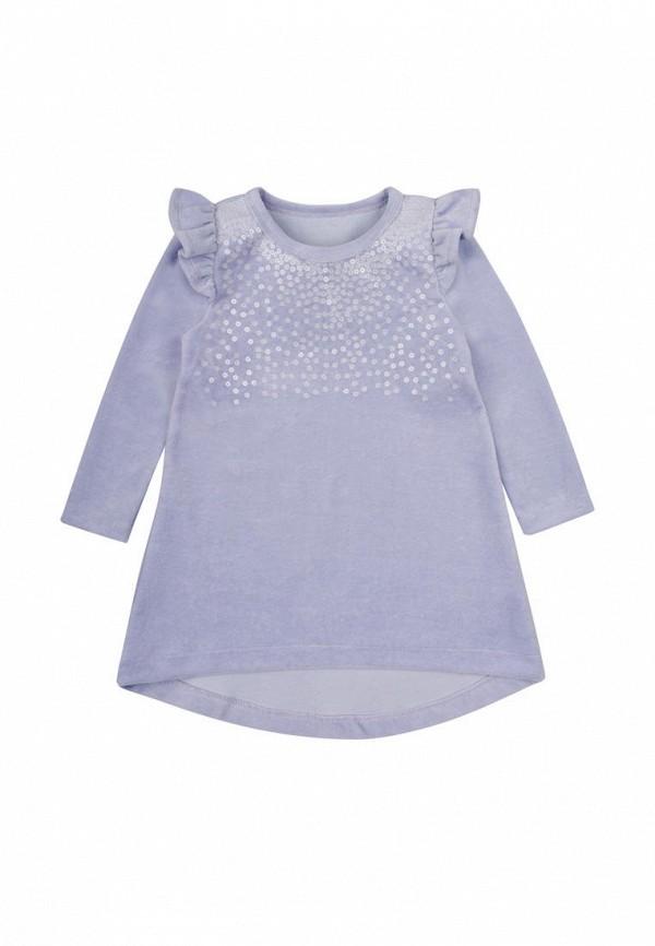 платье фламинго текстиль для девочки, серое