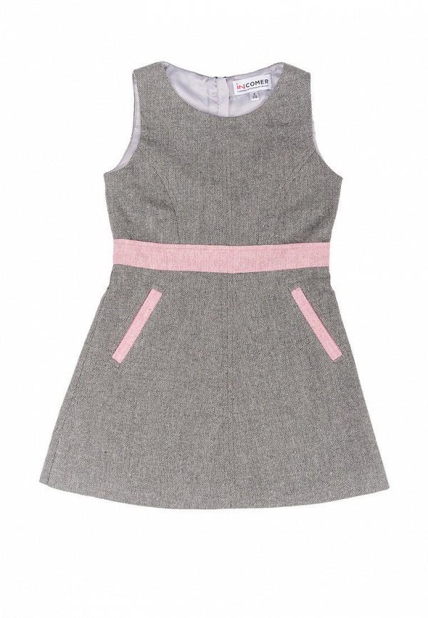 повседневные платье incomer для девочки, серое