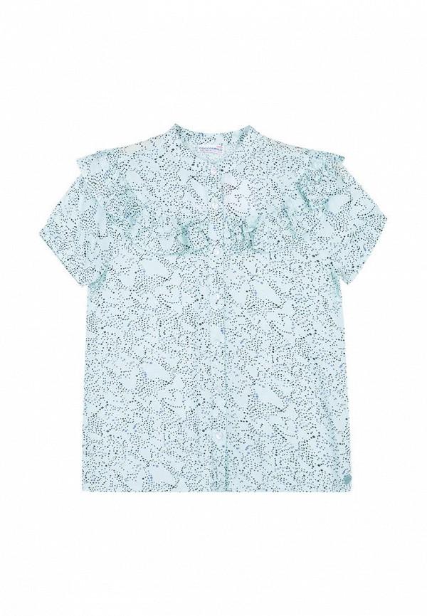 блузка coccodrillo для девочки, бирюзовая