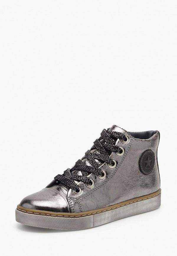 ботинки broni для девочки, серебряные