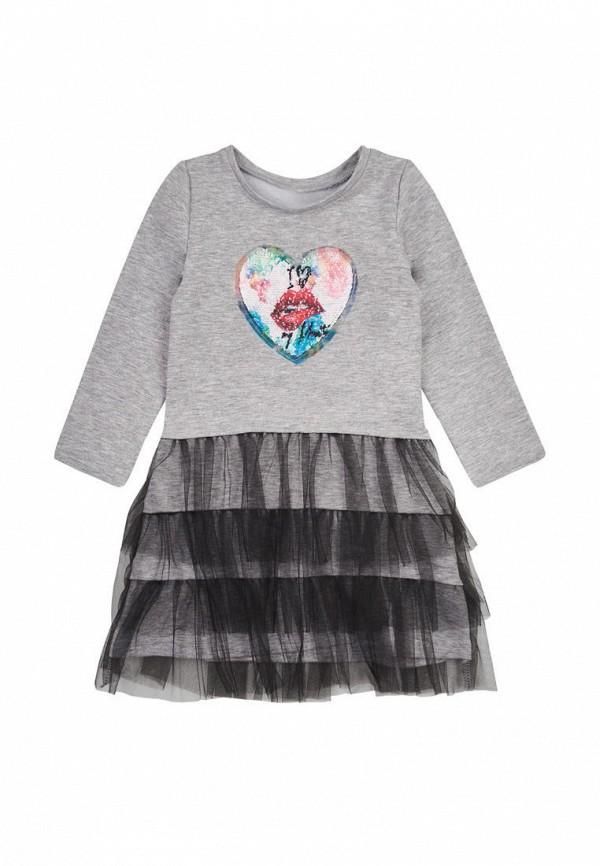 повседневные платье одягайко для девочки, серое