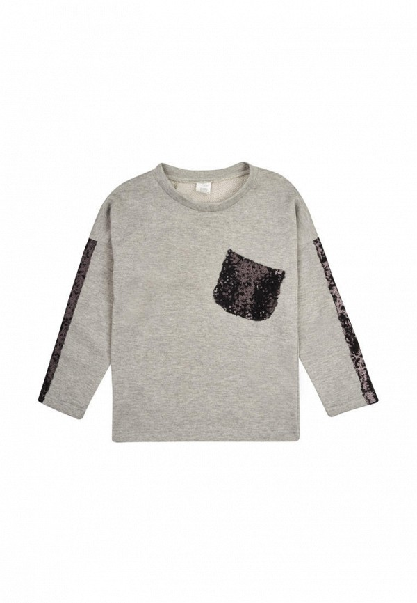 свитшот одягайко для девочки, серый