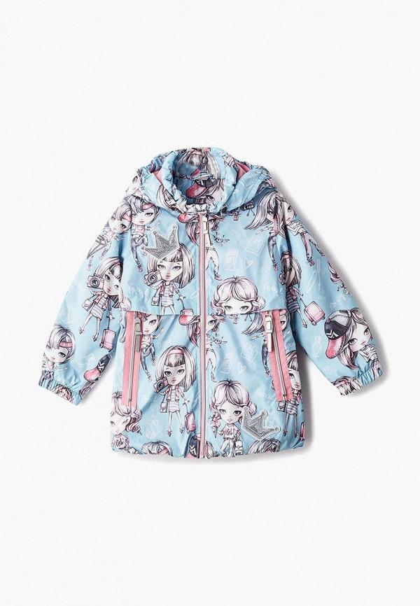 куртка alpex для девочки, голубая
