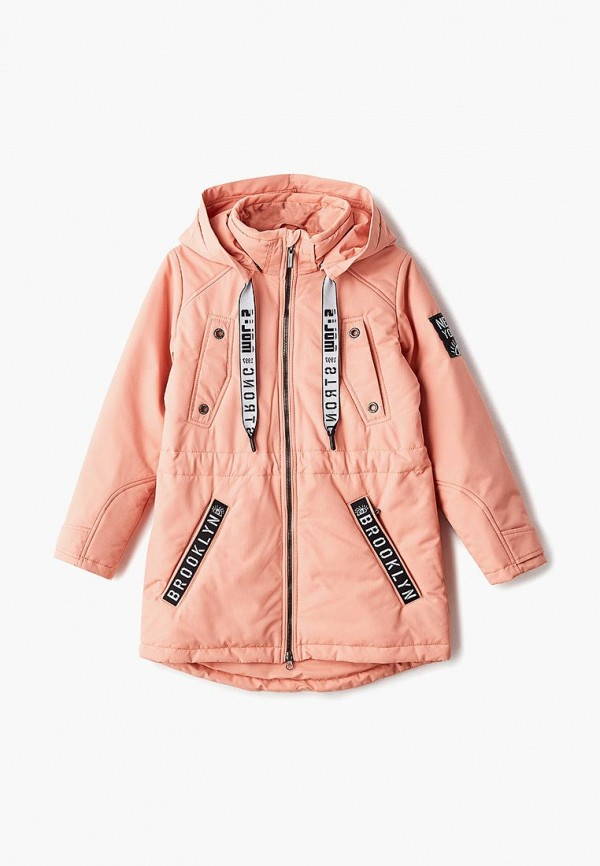 куртка alpex для девочки, оранжевая
