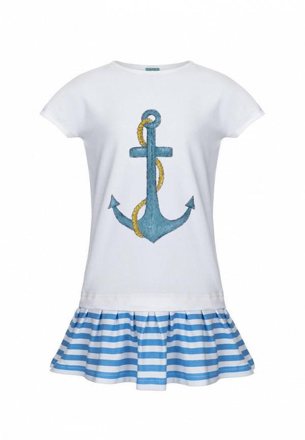 повседневные платье lisa&leo для девочки, белое