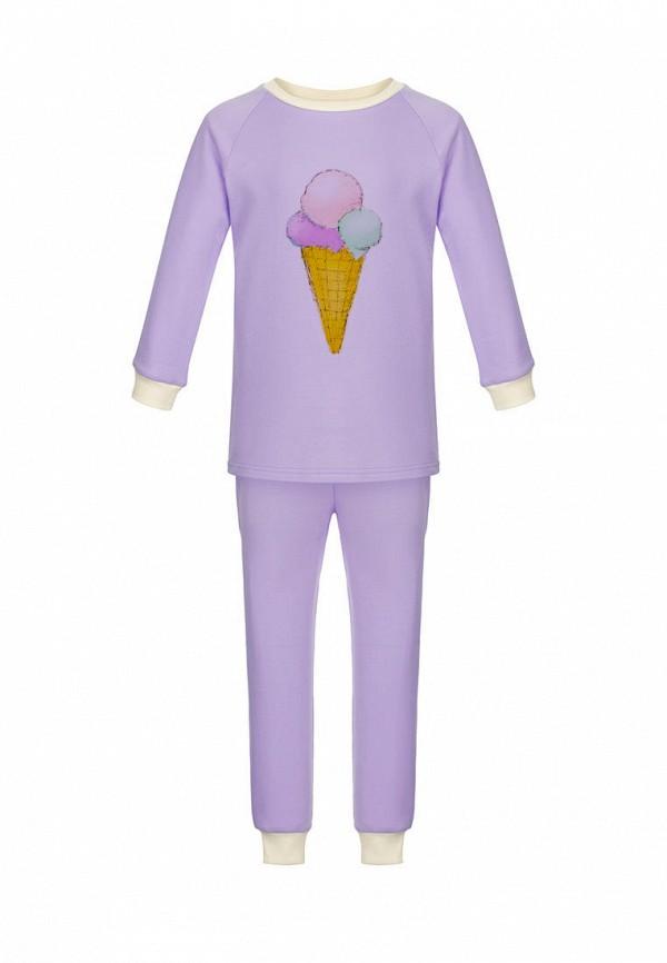 пижама lisa&leo для девочки, фиолетовая