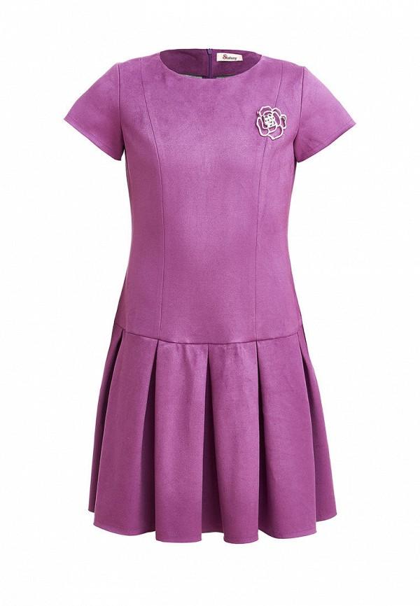 повседневные платье stefany для девочки, фиолетовое