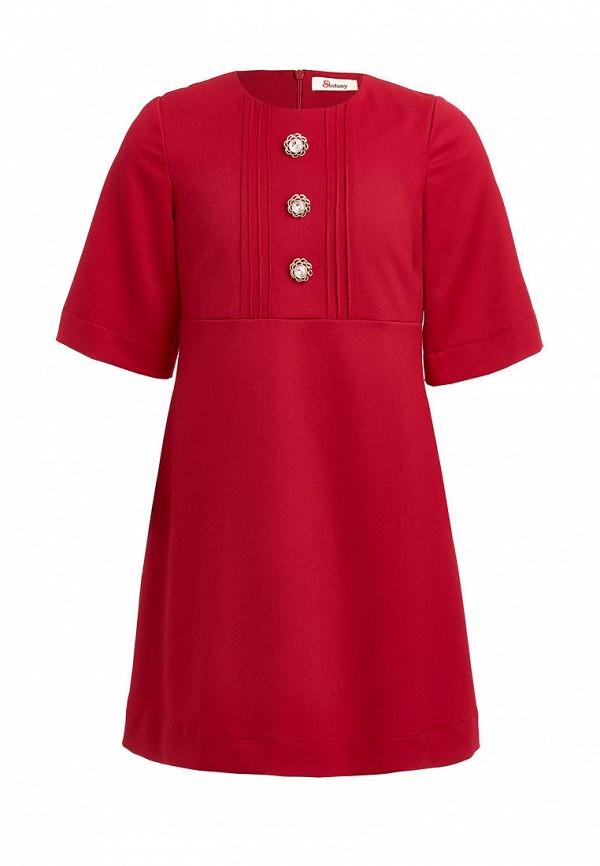 повседневные платье stefany для девочки, красное