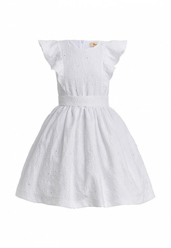 платье stefany для девочки, белое