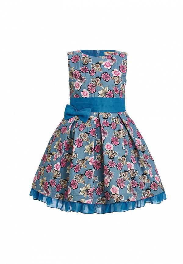 повседневные платье stefany для девочки, голубое