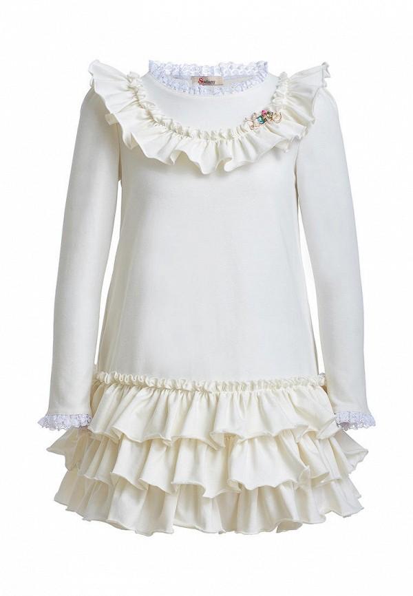 повседневные платье stefany для девочки, бежевое