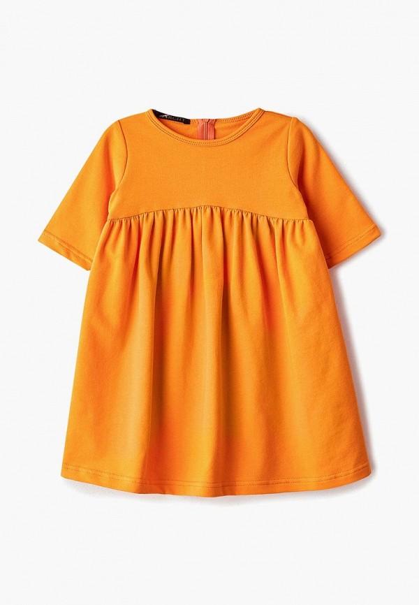повседневные платье archyland для девочки, оранжевое