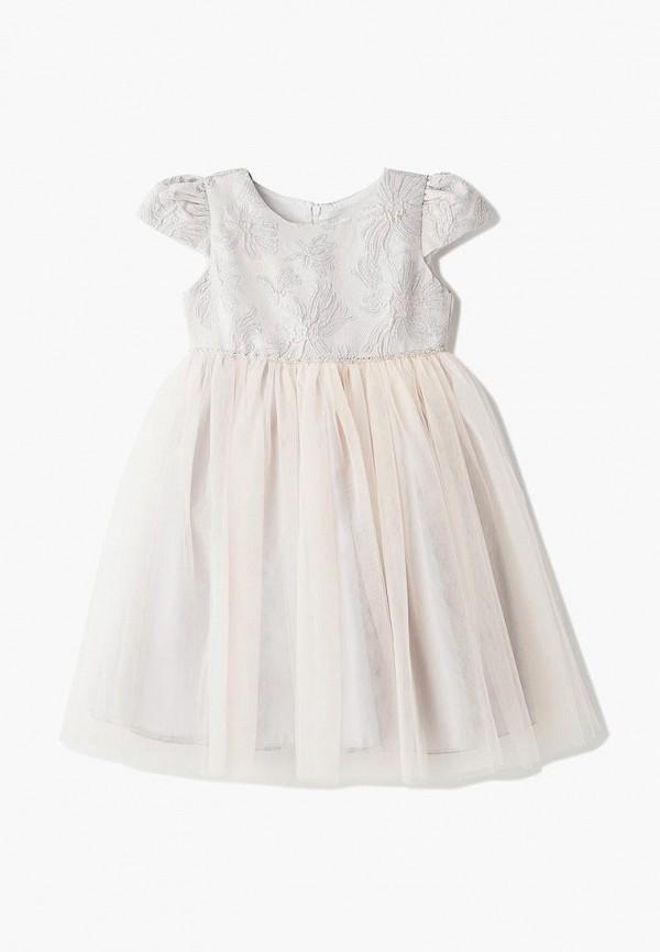 платье mili для девочки, бежевое