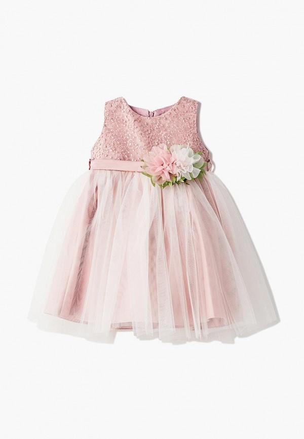 платье mili для девочки, розовое