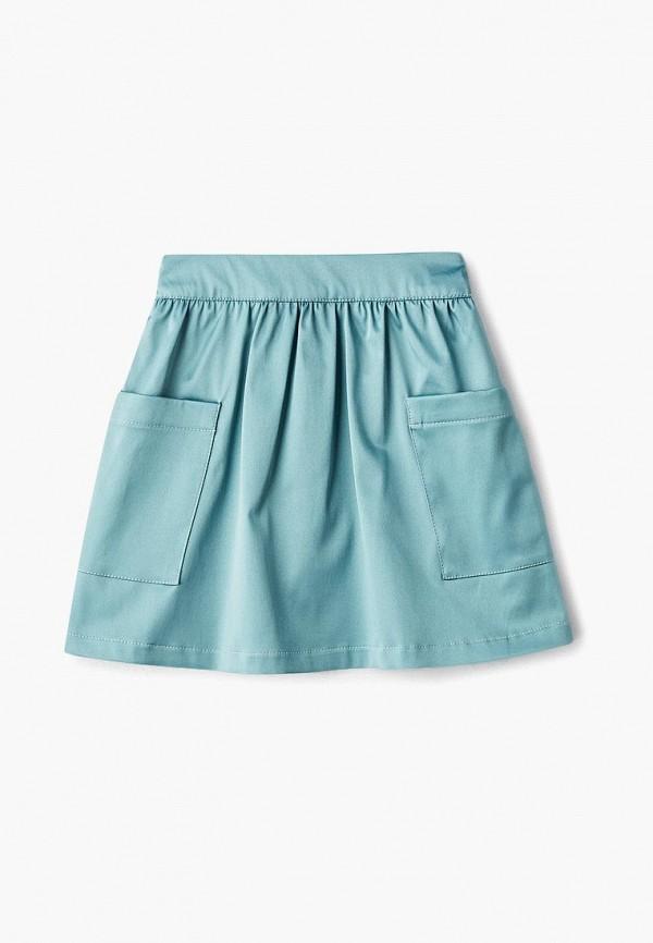 юбка смена для девочки, бирюзовая