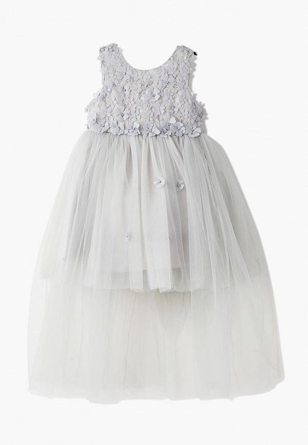 платье mili для девочки, серое