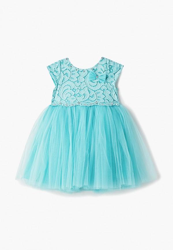 платье trendycokids для девочки, бирюзовое