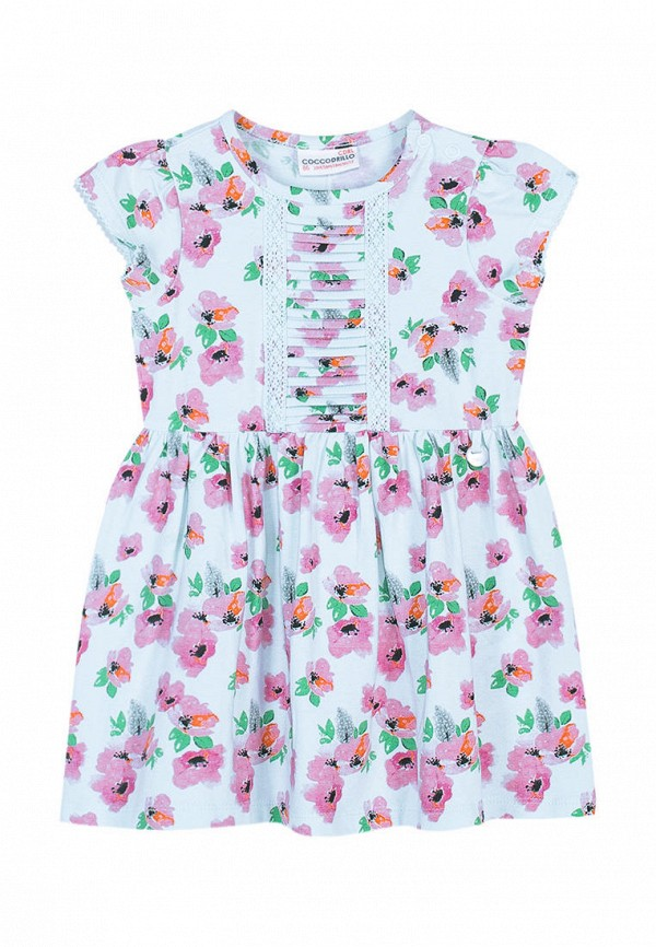 платье coccodrillo для девочки, голубое