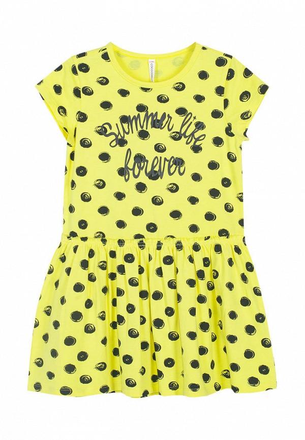 платье coccodrillo для девочки, желтое