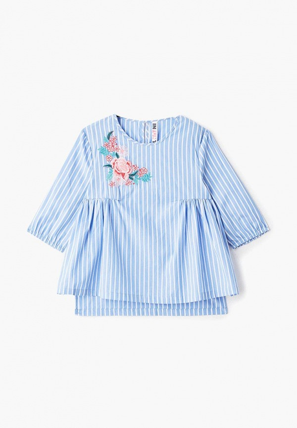 блузка infunt для девочки, синяя