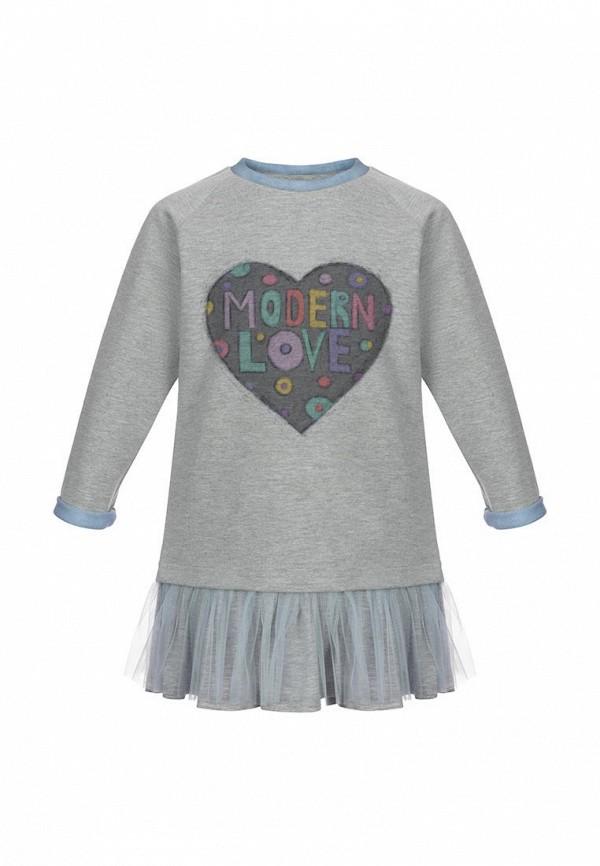 повседневные платье lisa&leo для девочки, серое