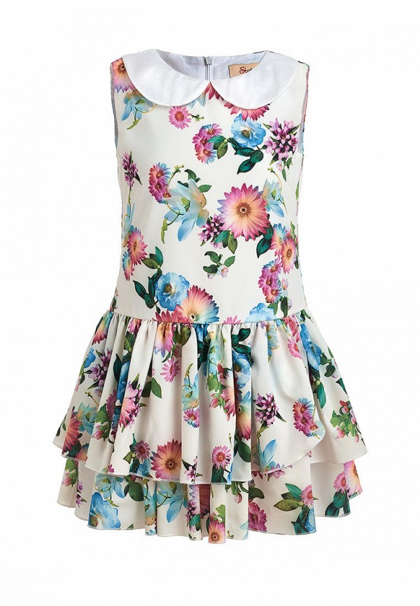 повседневные платье stefany для девочки, белое