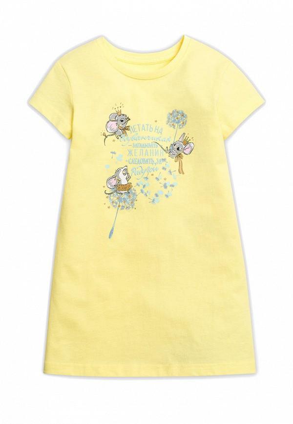 сорочка ночная pelican для девочки, желтые