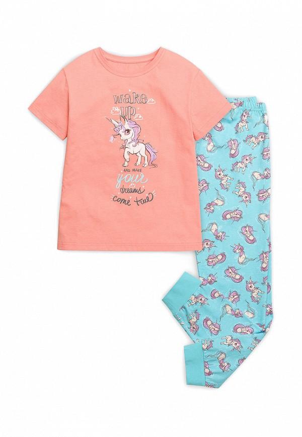 пижама pelican для девочки, разноцветная