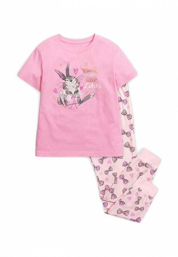 пижама pelican для девочки, розовая