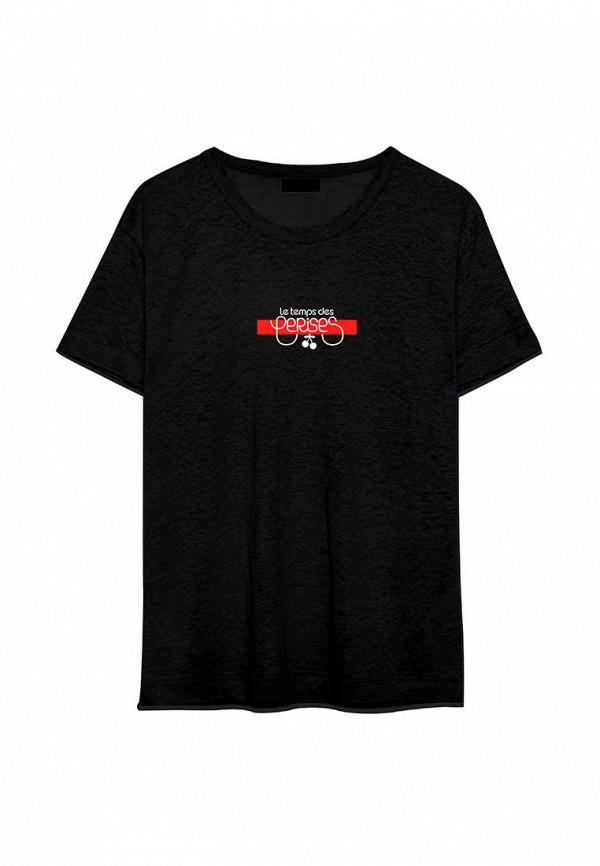 футболка с коротким рукавом le temps des cerises для девочки, черная