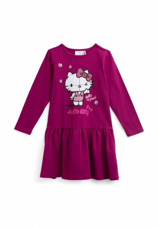 повседневные платье playtoday для девочки, фиолетовое